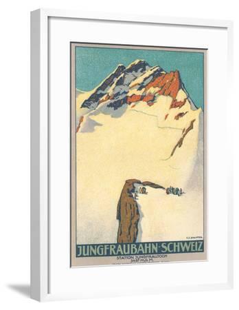 Jungfrau, Swiss Alps--Framed Art Print