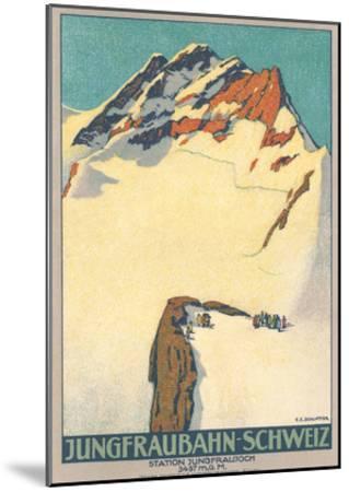 Jungfrau, Swiss Alps--Mounted Art Print