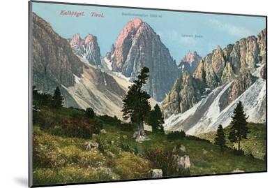 Tyrolean Alps--Mounted Art Print
