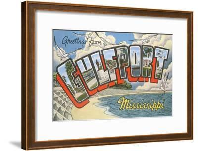 Greetings from Gulfport, Mississippi--Framed Art Print