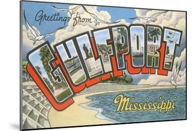Greetings from Gulfport, Mississippi--Mounted Art Print
