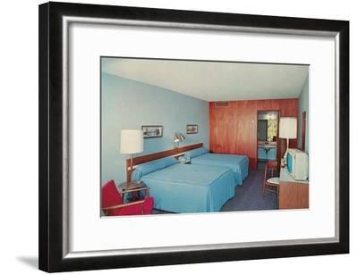 Motel Room with Two Double Beds--Framed Art Print