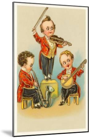 Band of Little Boys--Mounted Art Print