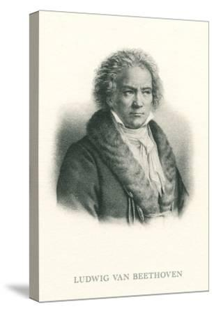 Engraving of Beethoven--Stretched Canvas Print
