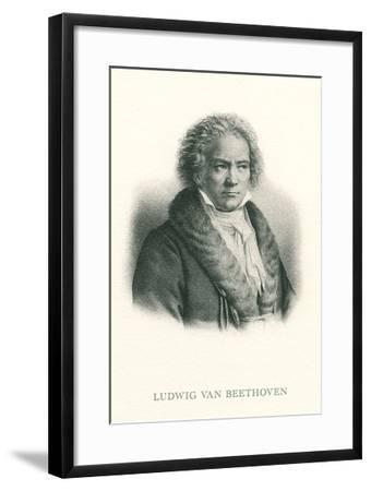 Engraving of Beethoven--Framed Art Print