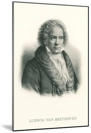 Engraving of Beethoven--Mounted Art Print