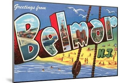Greetings from Belmar, New Jersey--Mounted Art Print