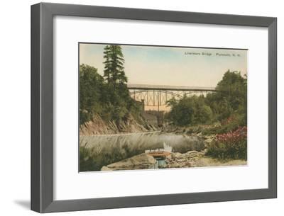 Livermore Bridge, Plymouth, New Hampshire--Framed Art Print