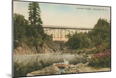 Livermore Bridge, Plymouth, New Hampshire--Mounted Art Print
