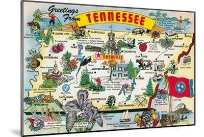 Greetings from Tennessee--Mounted Art Print
