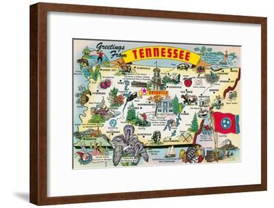 Greetings from Tennessee--Framed Art Print