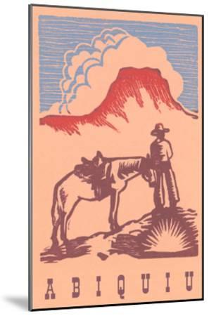 Black Mesa, Abiquiu, New Mexico--Mounted Art Print