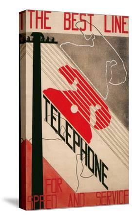 Ad for Best Line Telephone--Stretched Canvas Print