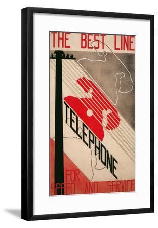 Ad for Best Line Telephone--Framed Art Print