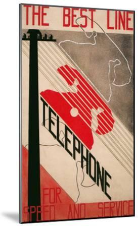 Ad for Best Line Telephone--Mounted Art Print