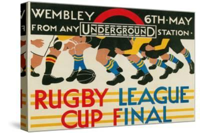 Rugby League Cup Final at Wembley--Stretched Canvas Print