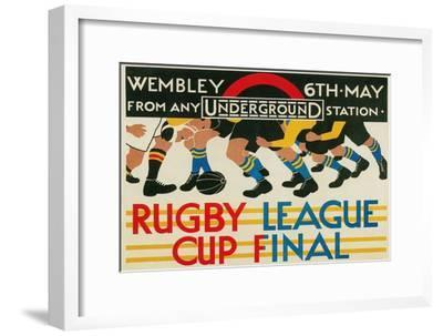 Rugby League Cup Final at Wembley--Framed Art Print