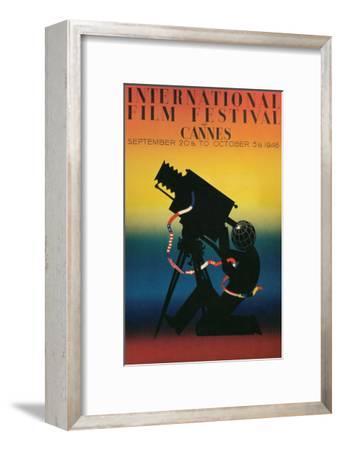 Poster for Cannes Film Festival, 1946--Framed Art Print