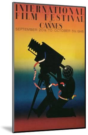 Poster for Cannes Film Festival, 1946--Mounted Art Print