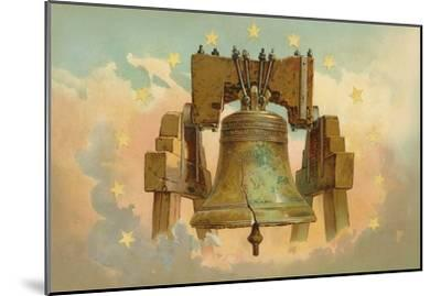 Liberty Bell in the Clouds--Mounted Art Print