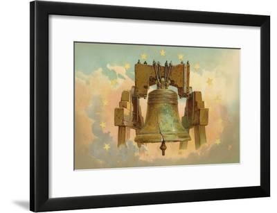 Liberty Bell in the Clouds--Framed Art Print