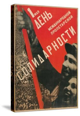 Soviet International Proletariat Solidarity--Stretched Canvas Print