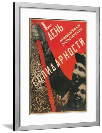 Soviet International Proletariat Solidarity--Framed Art Print