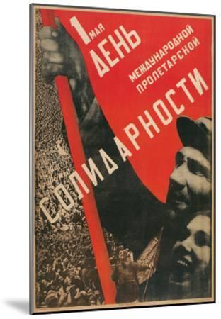 Soviet International Proletariat Solidarity--Mounted Art Print