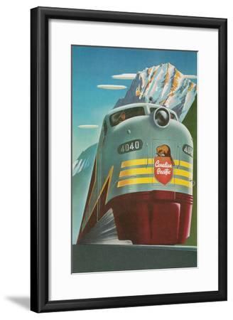 Travel Poster for Canadian Railways--Framed Art Print