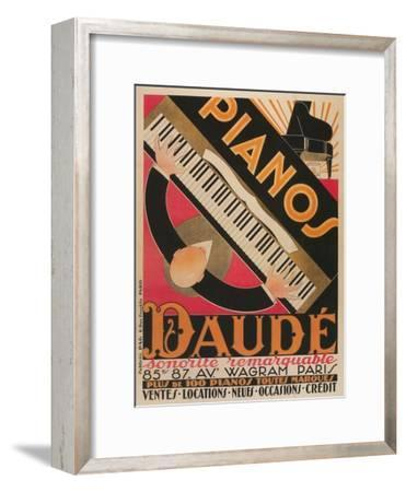 Top View of Piano Keyboard--Framed Premium Giclee Print