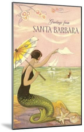 Greetings from Santa Barbara--Mounted Art Print