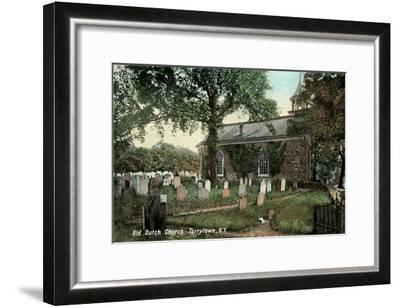 Old Dutch Church, Tarrytown, New York--Framed Art Print