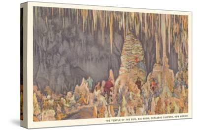 Big Room, Carlsbad Caverns, New Mexico--Stretched Canvas Print