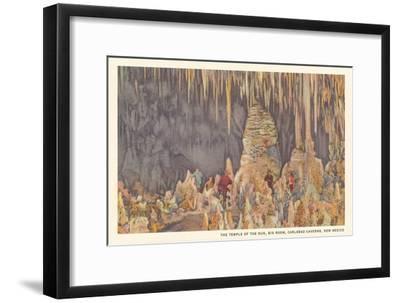 Big Room, Carlsbad Caverns, New Mexico--Framed Art Print