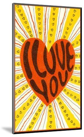 Psychedelic Love You Heart--Mounted Art Print