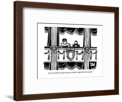 """""""Just once I'd like to sit down there on the floor, right behind the mosh ?"""" - New Yorker Cartoon-Drew Dernavich-Framed Premium Giclee Print"""