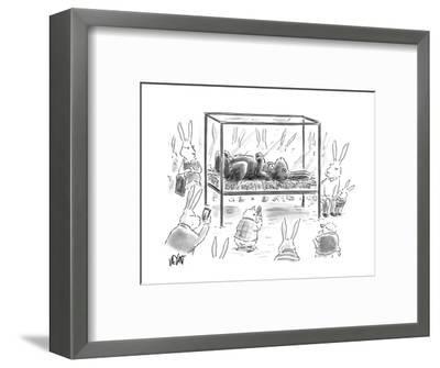 Chocolate Easter Bunny - Cartoon-Christopher Weyant-Framed Premium Giclee Print