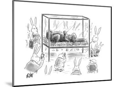 Chocolate Easter Bunny - Cartoon-Christopher Weyant-Mounted Premium Giclee Print