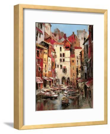 Mediterranean Seaside Holiday 1-Brent Heighton-Framed Art Print