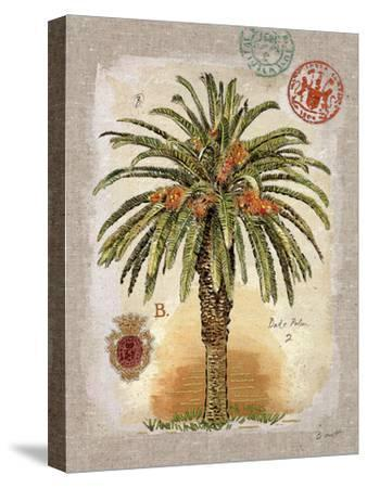 Linen Date Palm Tree-Chad Barrett-Stretched Canvas Print