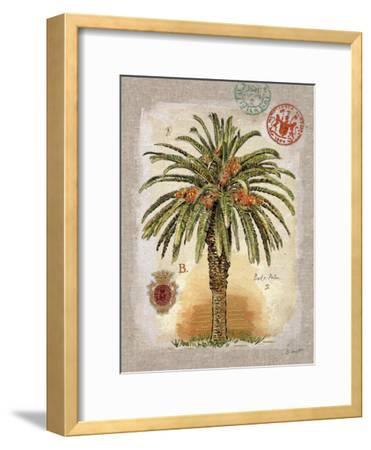 Linen Date Palm Tree-Chad Barrett-Framed Art Print