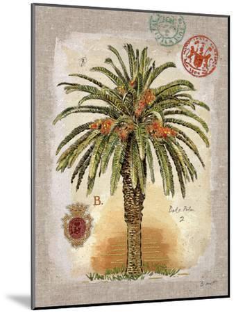 Linen Date Palm Tree-Chad Barrett-Mounted Art Print