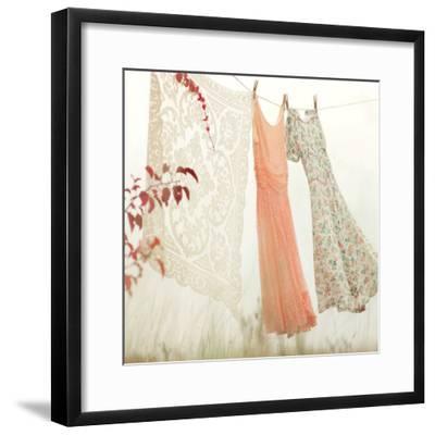 Breezy Dresses-Mandy Lynne-Framed Art Print