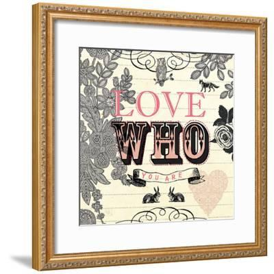 Love Who You Are-Violet Leclaire-Framed Art Print