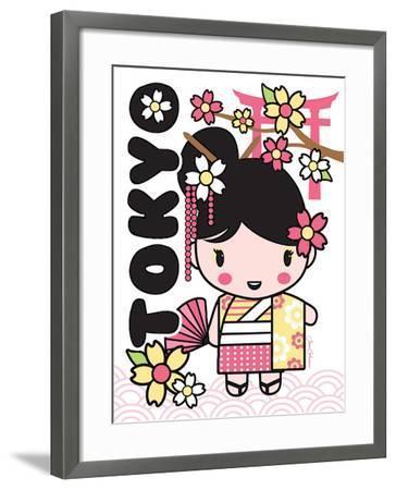 Tokyo Cutie-Joan Coleman-Framed Art Print