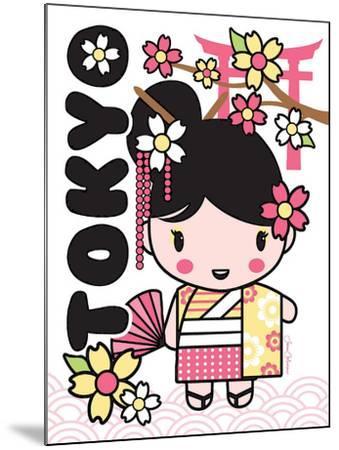 Tokyo Cutie-Joan Coleman-Mounted Art Print