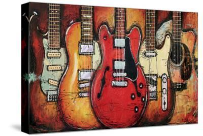 Guitar Collage-Bruce Langton-Stretched Canvas Print