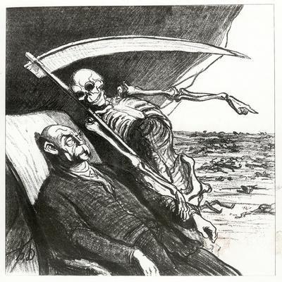 Le Cauchemar De Bismarck: La Mort: 'Merci', Bismarck's Nightmare, 1870-Honore Daumier-Framed Giclee Print