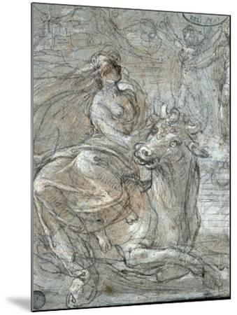 The Abduction of Europa-Prospero Fontana-Mounted Giclee Print