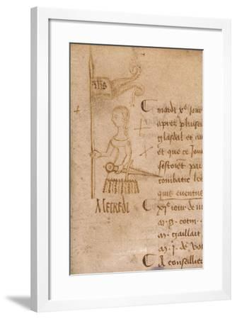 Joan of Arc with Sword and Banner, C.1429--Framed Giclee Print